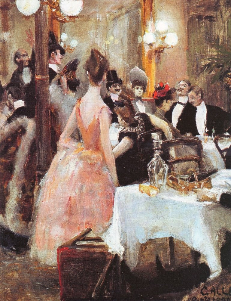 After the Opera Ball, Akseli Gallen-Kallela - 1888